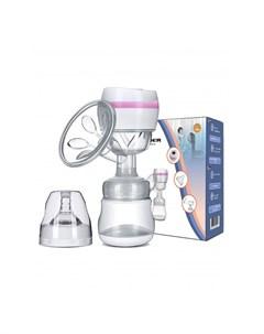 Молокоотсос электронный электрический для сцеживания грудного молока с бутылочкой и соской Kunder
