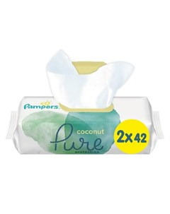 Детские влажные салфетки Pure Protection Coconut 2х42шт Pampers