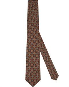 клетчатый галстук с логотипом GG Gucci