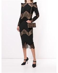 Платье миди с кружевными вставками Zuhair murad