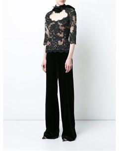 Бархатные брюки палаццо Marchesa