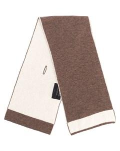 Кашемировый шарф с контрастной отделкой Dell'oglio