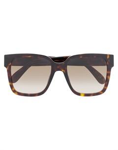 Солнцезащитные очки черепаховой расцветки Givenchy eyewear