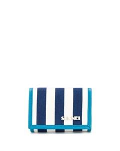 Полосатый кошелек с ремешком на шею Sunnei