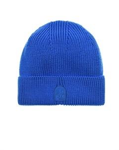 Шерстяная шапка бини с отворотом dodger blue Parajumpers