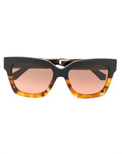 солнцезащитные очки в квадратной оправе со вставками Michael kors