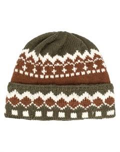 шапка бини вязки интарсия Neil barrett