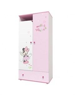 Шкаф двухсекционный kids Disney baby Минни Маус Фея Polini