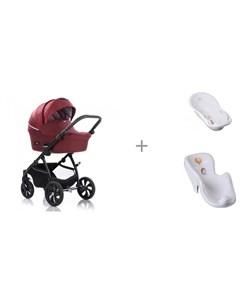 Коляска Aero 2 в 1 с ванной и креслом в ванну Tega Baby Лесная Сказка Tutiс
