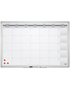 Доска планинг на месяц магнитно маркерная Office 60х90 см 2х3