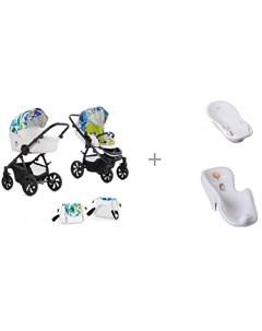 Коляска Aero 2 в 1 Limited Edition с ванной и креслом в ванну Tega Baby Лесная Сказка Tutiс