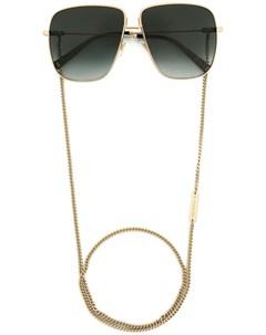 Солнцезащитные очки в массивной квадратной оправе Givenchy eyewear