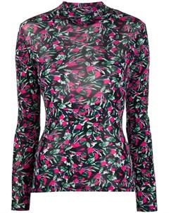Блузка с длинными рукавами и цветочным принтом Dvf diane von furstenberg
