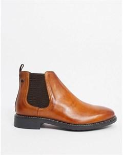 Светло коричневые кожаные ботинки челси Base london