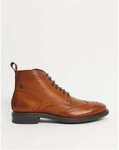 Светло коричневые кожаные броги Base london