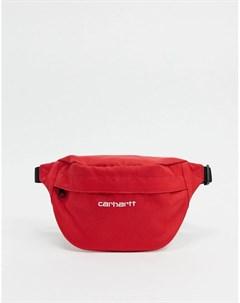 Сумка кошелек на пояс красного белого цвета Carhartt wip