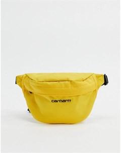 Желто черная сумка кошелек на пояс Carhartt wip
