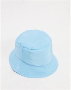Голубая стеганая панама из нейлона London My accessories