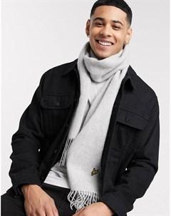 Однотонный шерстяной шарф Lyle & scott