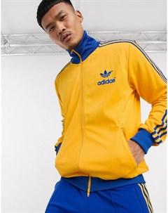 Золотисто желтая олимпийка в стиле ретро Adidas originals