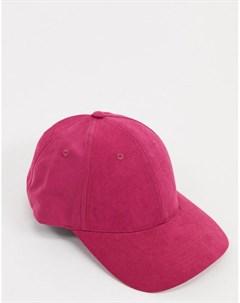 Розовая бейсболка из мягкого материала Asos design