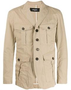 куртка с карманами в стиле милитари Dsquared2