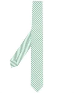 полосатый галстук из сирсакера Thom browne