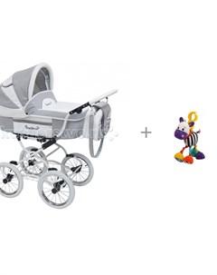 Коляска люлька Prestige Lily и подвесная игрушка с вибрацией Зебра Жирафики Reindeer