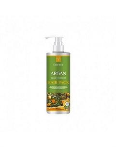 Маска для волос с аргановым маслом deoproce argan silky moisture hair pack Deoproce