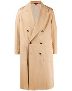 Двубортное пальто со вставками Barena