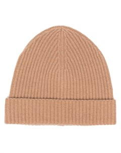 Кашемировая шапка бини в рубчик Jil sander