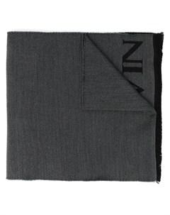 шарф с бахромой и логотипом Lanvin