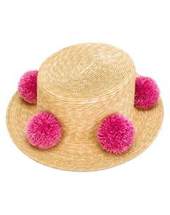 Шляпа с помпонами Eshvi