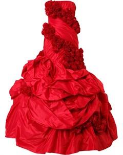 Длинное платье без бретелей Rubin singer