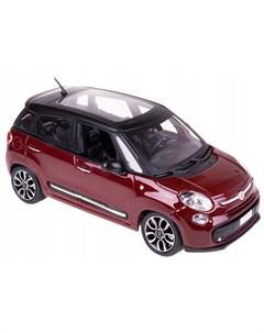 Машинка металлическая Fiat 500L 1 24 бордовый Bburago
