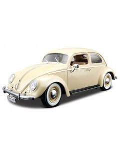 Машинка металлическая Volkswagen Kafer Beetle 1955 1 18 бежевая Bburago