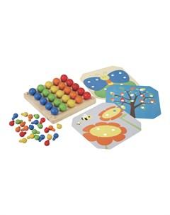 Мозаика Гвоздики Plan toys