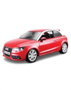Машинка металлическая Audi А1 1 24 красный металлик Bburago