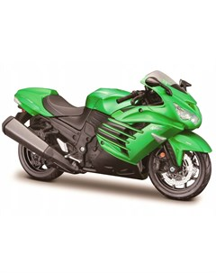Сборная модель мотоцикла AL Motorcycles KAWASAKI NINJA ZX 14R 1 12 зеленый Maisto
