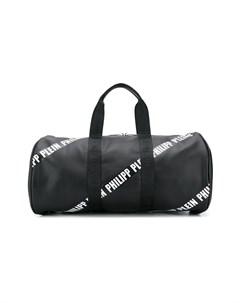 сумка тоут в полоску с логотипом Philipp plein junior