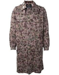 Пальто с камуфляжным принтом Icons