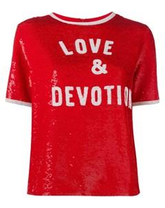 Футболка с пайетками Love Devotion Ashish