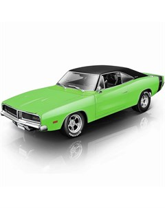 Машинка 1 18 Classic Muscle 1969 Dodge Charger R T зеленая Maisto