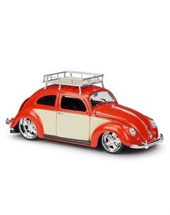 Машинка 1 18 Classics 1956 Volkswagen Beetle оранжевая Maisto