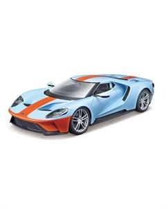 Машинка металлическая Ford GT 1 32 голубая Bburago