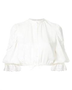 Укороченная блузка с кружевной отделкой Elin