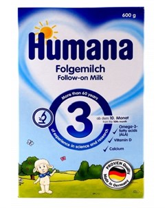 Смесь молочная адаптированная Humana 3 600гр Агат