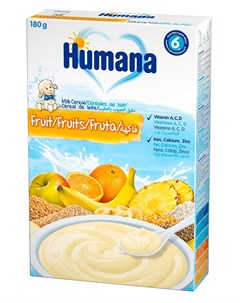 Каша молочная Мультизлаковая с фруктами 180гр Humana