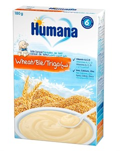 Каша молочная Пшеничная 180гр Humana