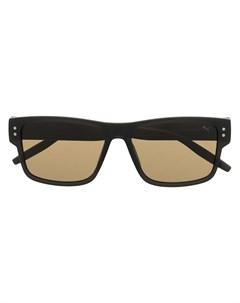 солнцезащитные очки в оправе с абстрактным принтом Puma